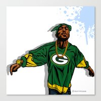 packers Canvas Prints featuring Packers Mood by Mike Farhat Art Mobb