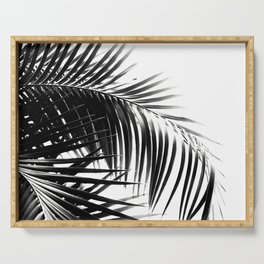 Palm Leaves Black & White Vibes #3 #tropical #decor #art #society6 Serving Tray