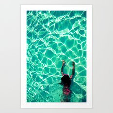 The swimming pool - for iphone Art Print