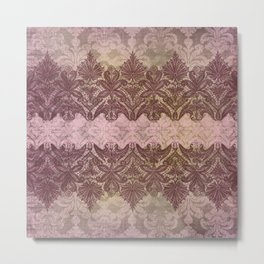 ABERDEEN HEIRLOOM, LACE & DAMASK: VICTORIAN PINKS Metal Print