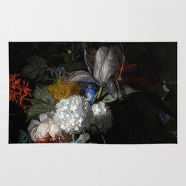 """Jan van Huysum """"Flowers in a glass vase"""" Rug"""