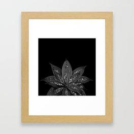 Gray Black Agave with Black Silver Glitter #2 #shiny #tropical #decor #art #society6 Framed Art Print