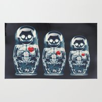 ali Area & Throw Rugs featuring Nesting Doll X-Ray by Ali GULEC