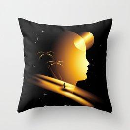 Golden Area Throw Pillow
