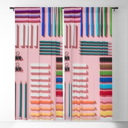 Chalks, pens, pencils and modeling clay Blackout Curtain