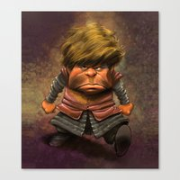 lannister Canvas Prints featuring Tyrion Lannister by Dennis Jones