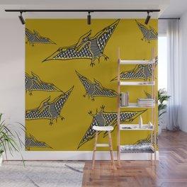 Pterosauria mustard Wall Mural