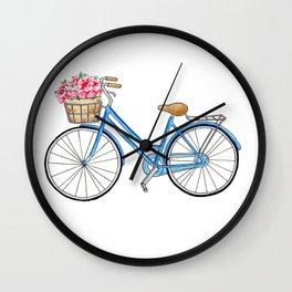 Bicycle art Bicycle print Bicycle wall art Bicycle poster Vintage bicycle art Wall Clock