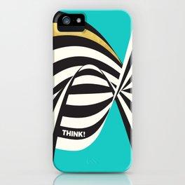 THINK! – Wavy Stripes on Luxury Blue iPhone Case