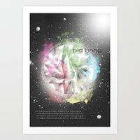 big bang Art Prints featuring Big Bang by Davide Rostirolla