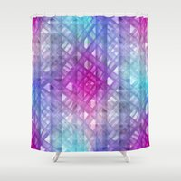 grid Shower Curtains featuring Grid by Christine baessler