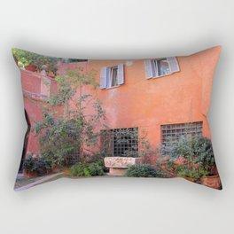 Trasvtevere Courtyard Rectangular Pillow