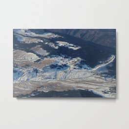 Alps from a Plane Metal Print