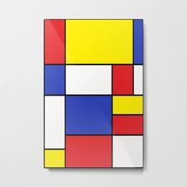 Mondrian #15 Metal Print