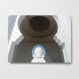 Sheik Zayed Mosque Abu Dhabi - Looking through Metal Print