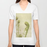 fern V-neck T-shirts featuring Fern by Pure Nature Photos