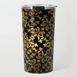 Ornamental pattern, design for pocket square, textile, silk shawl Travel Mug