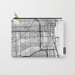 Chicago Map White Carry-All Pouch