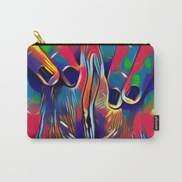 9978s-KD Abstract Yoni Pop Color Erotica Explicit Psychedelic Self Love Carry-All Pouch