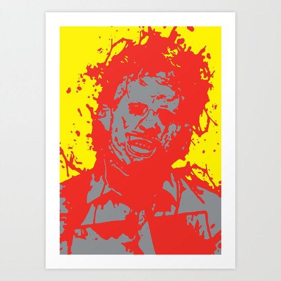 August 18, 1973: Bloodstain Leatherface (color combination L) Art Print