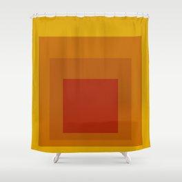 Block Colors - Yellow Orange Red Shower Curtain