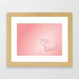 Little Pig Framed Art Print