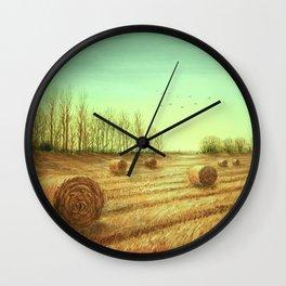 Autumn Rolls Along Wall Clock