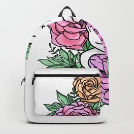 Cat and Roses Backpack