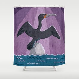 Air Cormorant Shower Curtain