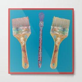 Artist Brushes Metal Print