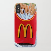 fries iPhone & iPod Cases featuring Smoked Fries by Stephanie Nakagawa