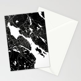 Halifax - Minimalist City Map Stationery Cards