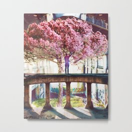 Abandoned Tree in an Abandoned Warehouse Metal Print