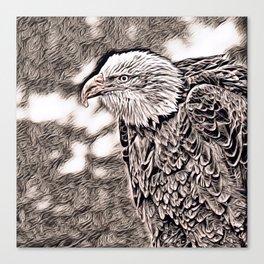 Rustic Style - Eagle Canvas Print