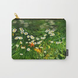 Upside Down Daisies Carry-All Pouch