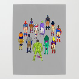 Superhero Butts - Power Couple Poster