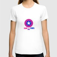 bisexual T-shirts featuring Stars and Stripes- Bisexual Steve Rogers by merlinemrys