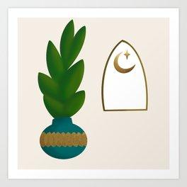 Bright Moon Palace Plant Art Print