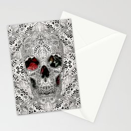 Lace Skull Light Stationery Cards