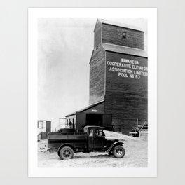 Grain Elevator - Silo-élévateur  Art Print