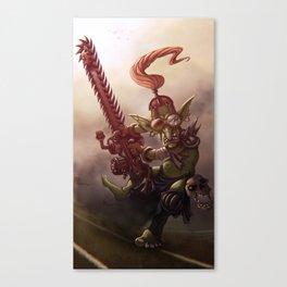 Goblin chainsaw Canvas Print