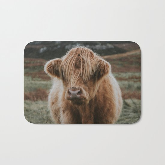 Folk Cow Bath Mat
