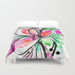 Ecstasy Bloom No. 1 by Kathy Morton Stanion Duvet Cover