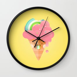 Strawberry Rainbow Wall Clock