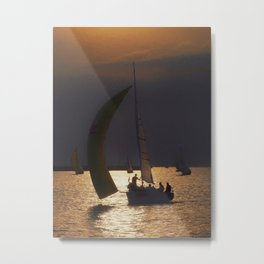 The day before the Barcolana race Metal Print