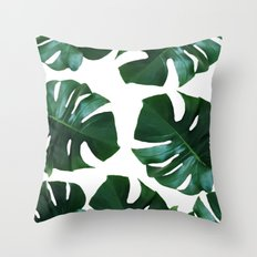 Monstera exotica Throw Pillow