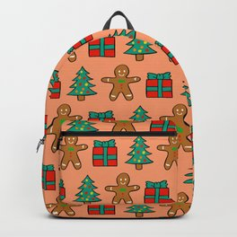 Man Gingerbread Gift Pattern Backpack