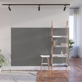Split Grey Geometry Wall Mural