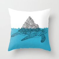 turtle Throw Pillows featuring Turtle by David Penela