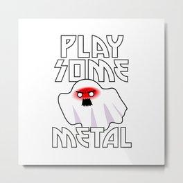 Heavy Metal Ghost Metal Print